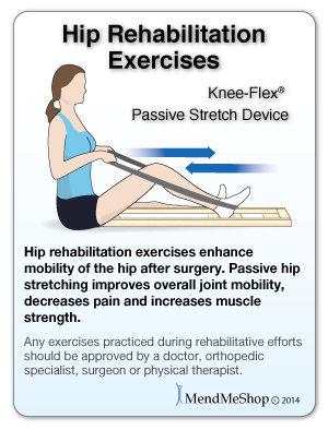 Passive stretching with a Knee-Flex device will help to break up scar tissue.
