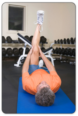 After your hip is warmed up your physical therapist will guide you through stretches to improve mobility.